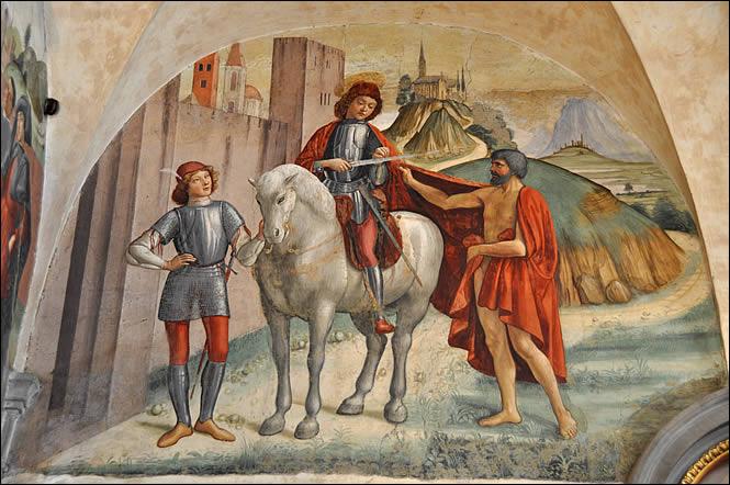 Saint-Martin découpant son manteau
