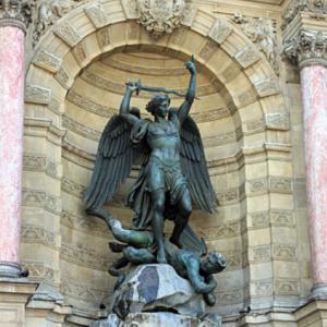 Saint-Michel terrassant le Dragon – Fontaine Saint-Michel à Paris